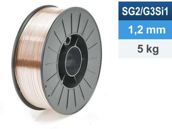 Schweißdraht SG2/G3Si1 1,2mm 5kg D200 Spule