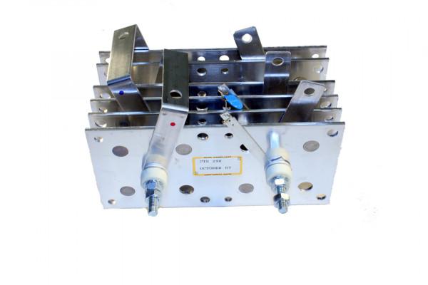 Gleichrichter SCOMES, 6 Platten, 100 x 200, 30 Dioden, 290 A, Thermoschalter
