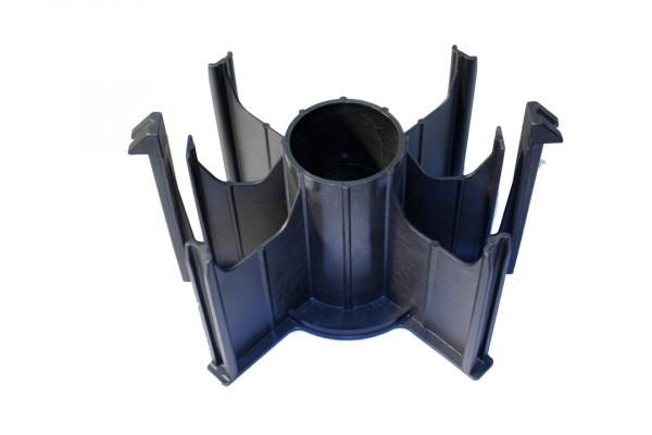 Spulenadapter, schwarz, 6 Arme