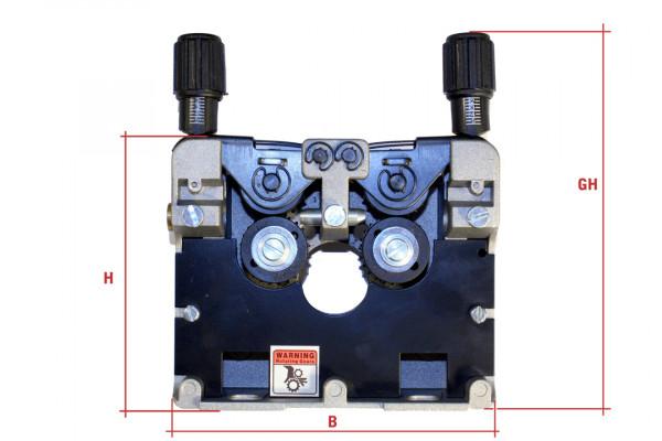 Drahtvorschubgetriebe DVGE 4, Rollengröße 30mm, Rollenzahl 4
