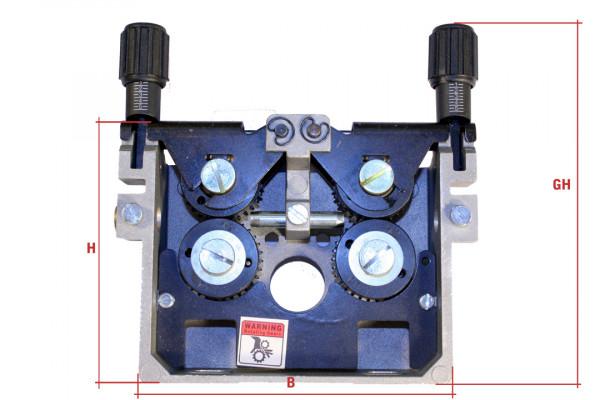 Drahtvorschubgetriebe DVGE 5, Rollengröße 37mm, Rollenzahl 4