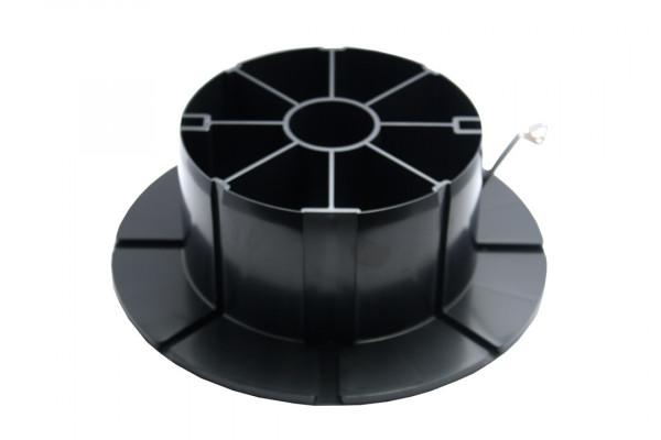 Spulenadapter schwarz, mit Metallfeder