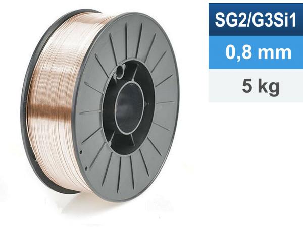 Schweißdraht MIG/MAG G3 Si1 0,8mm 5kg D200 Spule