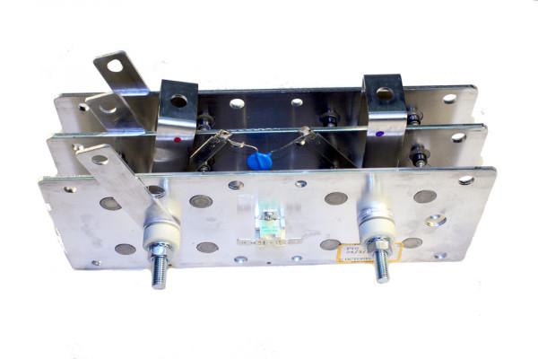 Gleichrichter SCOMES, 3 Platten, 100 x 250, 24 Dioden, 220 A, Thermoschalter