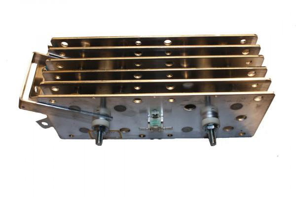 Gleichrichter SCOMES, 6 Platten, 100 x 250, 30 Dioden, 320 A, Thermoschalter, Anschl. Oben
