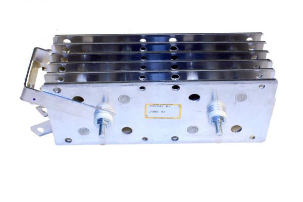 Gleichrichter SCOMES, 6 Platten, 100 x 250, 42 Dioden, 400 A, Thermoschalter, Anschl. oben
