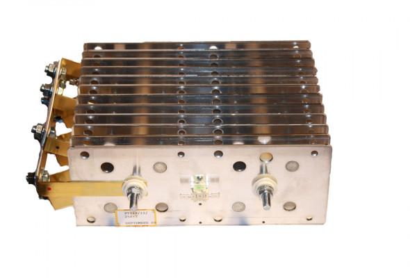 Gleichrichter SCOMES, 12 Platten, 100 x 250, 48 Dioden, 500 A, Thermoschalter, Anschl. Oben