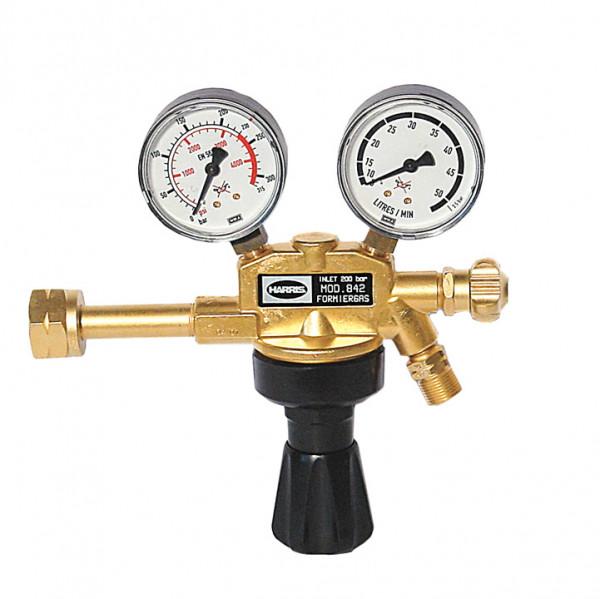 Druckminderer Formiergas 200bar 0-30 l/min Absperrventil