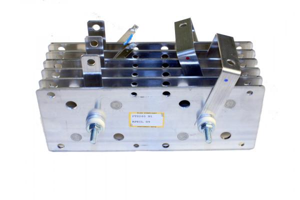 Gleichrichter SCOMES, 6 Platten, 100 x 250, 24 Dioden, 240 A