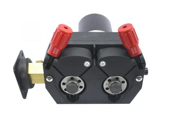 SwissFeed SF 390, 4-Rollen Drahtvorschubgetriebe, 24 Volt, 75 Watt, links