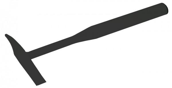 V2A Stahlhammer, Ovalrohr, V2A blank, 400 gr.