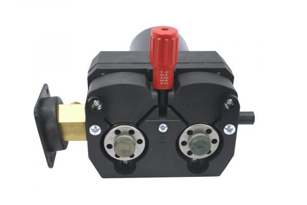 Swissfeed SF 165, 4-Rollen Drahtvorschubgetriebe, 24 Volt DC, 50 Watt, Links