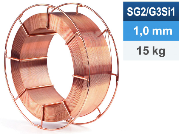 Schweißdraht G3Si1/SG2 1,0mm 15kg