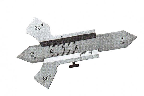 Schweißnahtlehre, 60° 80° 90°, Messbereich von 0-20mm