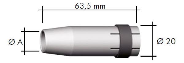 Düsenstock M6 x 26,0mm