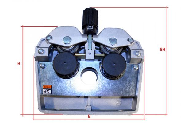 Drahtvorschubgetriebe DVGE 7, Rollengröße 40mm, Rollenzahl 4