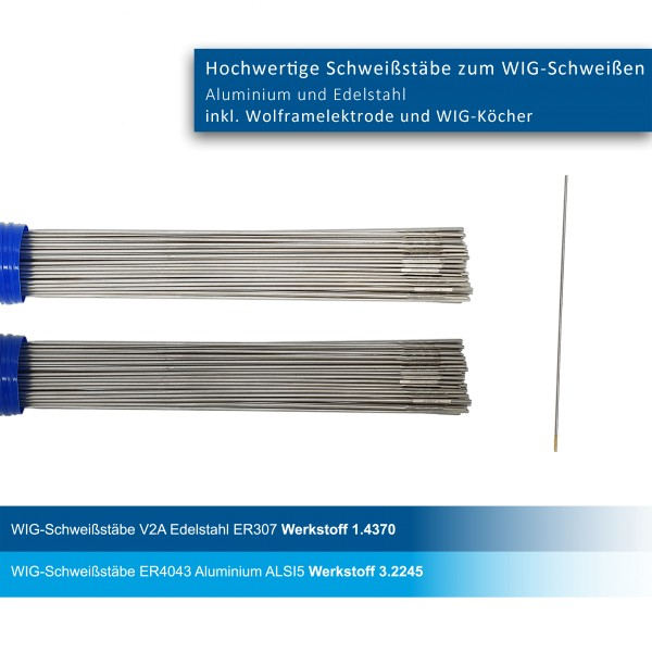 WIG-Stäbe 2er Set AlSi5/307Lsi 3,2mm
