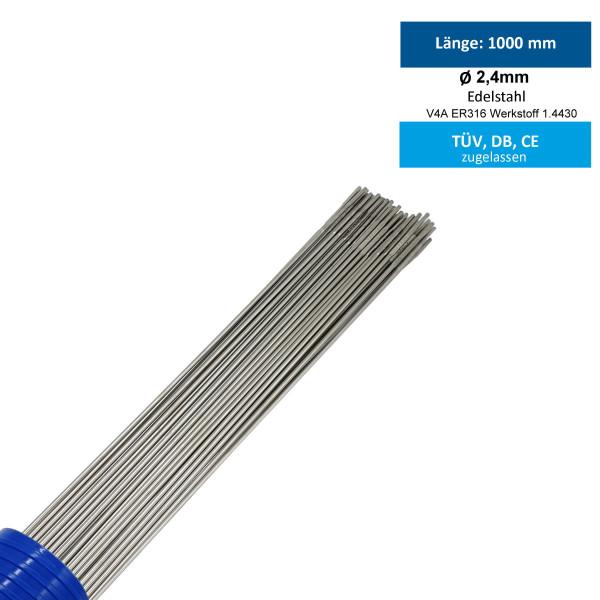 WIG-Schweißstab 316LSil Edelstahl 2,4mm
