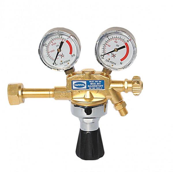 Harris Druckminderer Sauerstoff 200bar 0-10bar Absperrventil