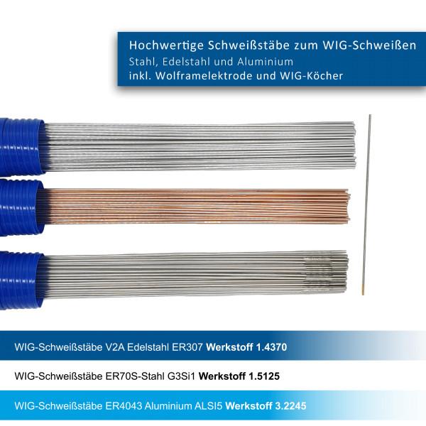 WIG-Stäbe 3er Set WSG2/AlSi5/307Lsi 2,4mm